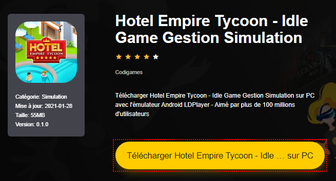 Installer Hotel Empire Tycoon - Idle Game Gestion Simulation sur PC