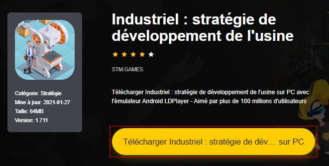 Installer Industriel : stratégie de développement de l'usine sur PC