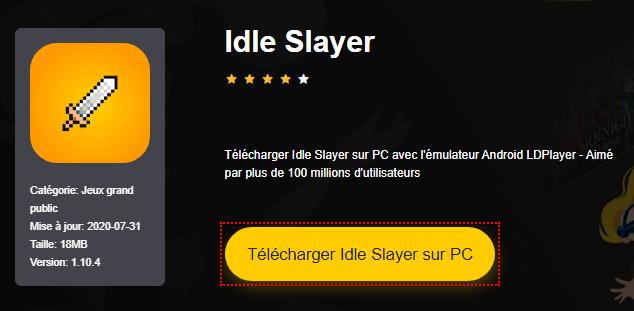 Installer Idle Slayer sur PC