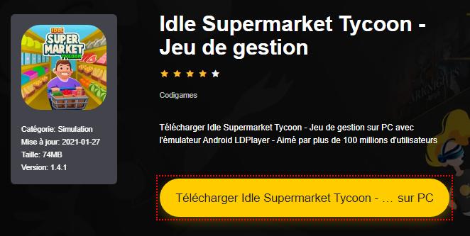 Installer Idle Supermarket Tycoon - Jeu de gestion sur PC