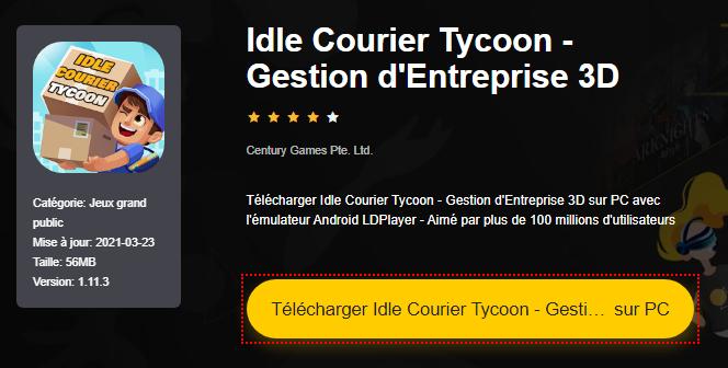 Installer Idle Courier Tycoon - Gestion d'Entreprise 3D sur PC