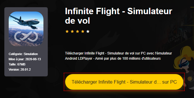 Installer Infinite Flight - Simulateur de vol sur PC