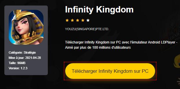 Installer Infinity Kingdom sur PC