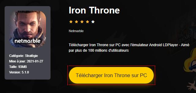 Installer Iron Throne sur PC