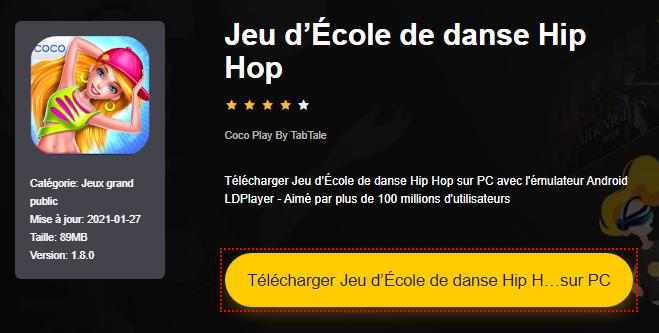 Installer Jeu d'École de danse Hip Hop sur PC