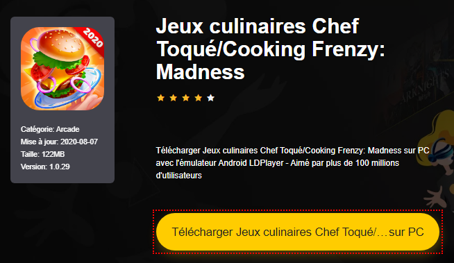 Installer Jeux culinaires Chef Toqué/Cooking Frenzy: Madness sur PC