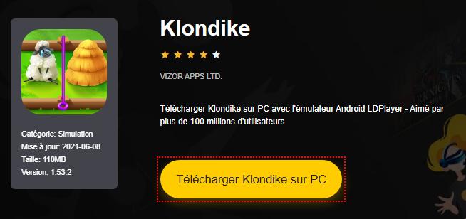 Installer Klondike sur PC