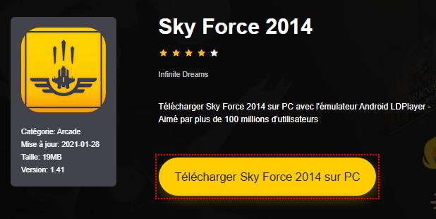 Installer Sky Force 2014 sur PC
