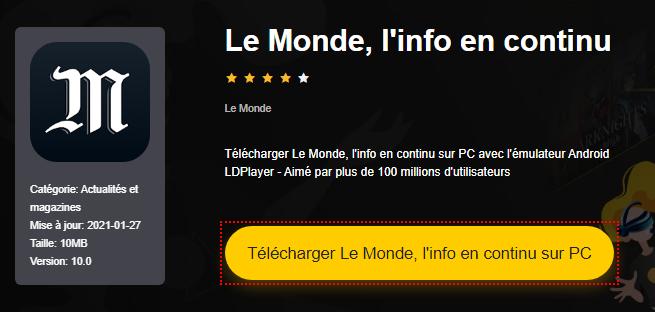 Installer Le Monde, l'info en continu sur PC