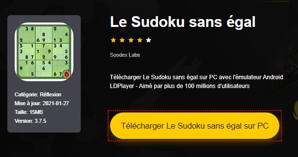 Installer Le Sudoku sans égal sur PC