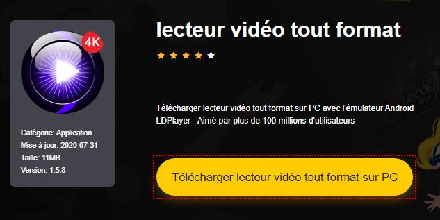 Installer lecteur vidéo tout format sur PC