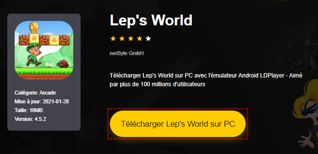 Installer Lep's World sur PC