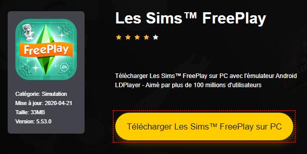 Installer Les Sims™ FreePlay sur PC