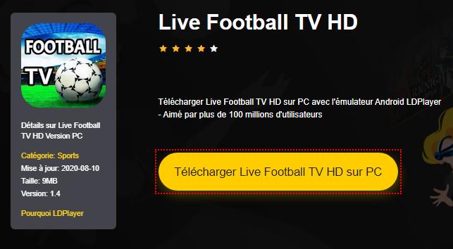 Installer Live Football TV HD sur PC
