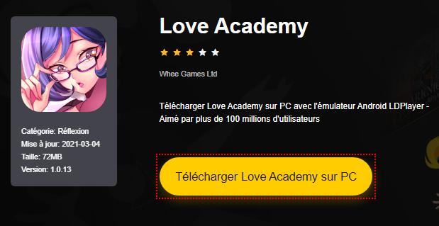 Installer Love Academy sur PC