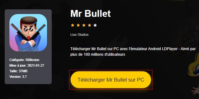 Installer Mr Bullet sur PC