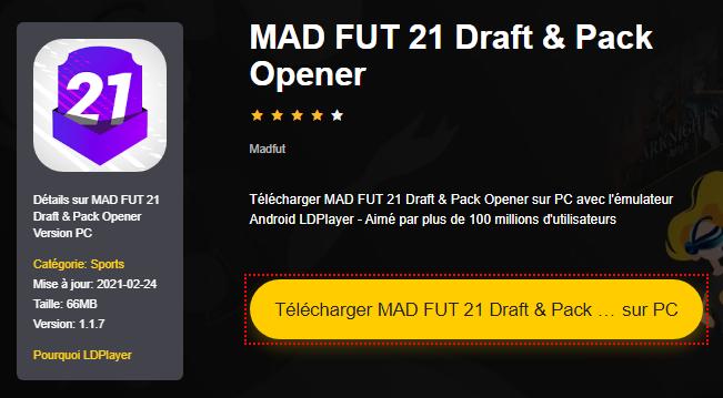 Installer MAD FUT 21 Draft & Pack Opener sur PC