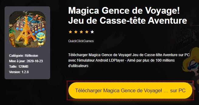 Installer Magica Gence de Voyage! Jeu de Casse-tête Aventure sur PC