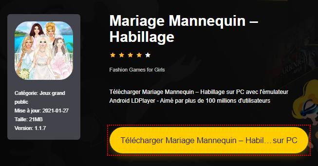 Installer Mariage Mannequin – Habillage sur PC