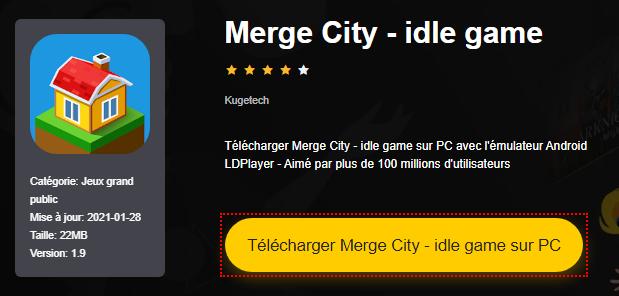 Installer Merge City - idle game sur PC
