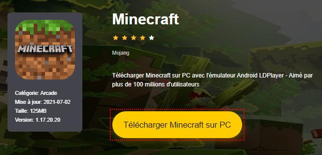 Installer Minecraft sur PC