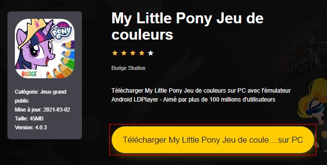 Installer My Little Pony Jeu de couleurs sur PC