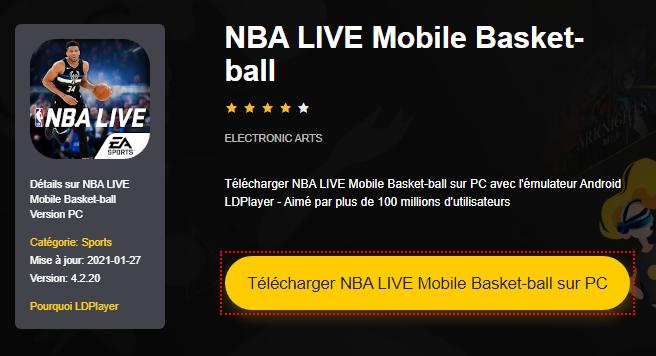 Installer NBA LIVE Mobile Basket-ball sur PC
