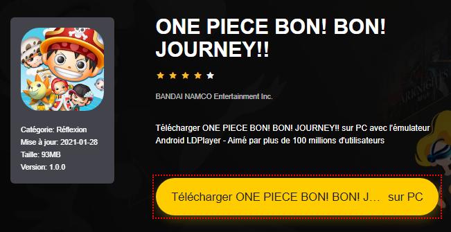 Installer ONE PIECE BON! BON! JOURNEY!! sur PC