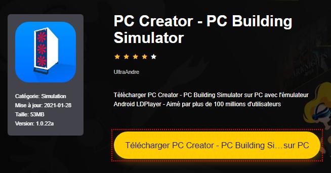 Installer PC Creator - PC Building Simulator sur PC