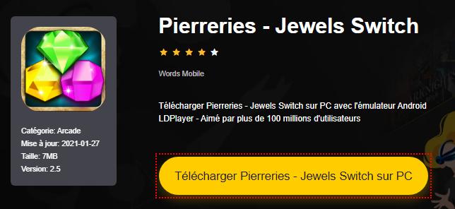 Installer Pierreries - Jewels Switch sur PC