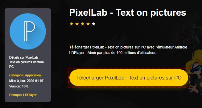 Installer PixelLab - Text on pictures sur PC