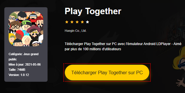 Installer Play Together sur PC