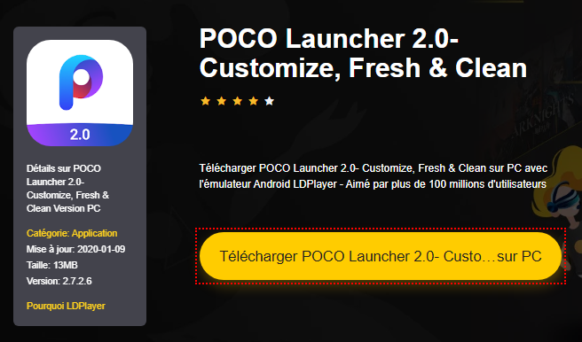 Installer POCO Launcher 2.0- Customize, Fresh & Clean sur PC