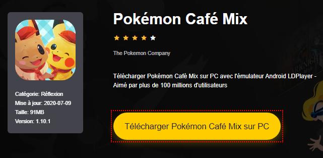 Installer Pokémon Café Mix sur PC