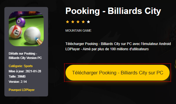 Installer Pooking - Billiards City sur PC