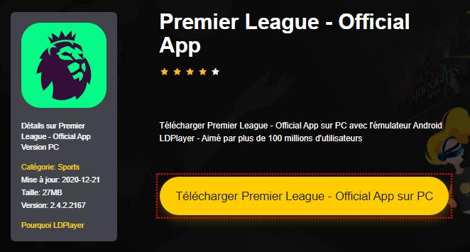 Installer Premier League - Official App sur PC