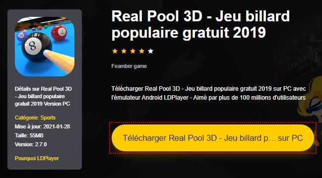 Installer Real Pool 3D - Jeu billard populaire gratuit 2019 sur PC