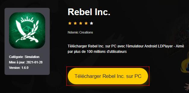 Installer Rebel Inc. sur PC