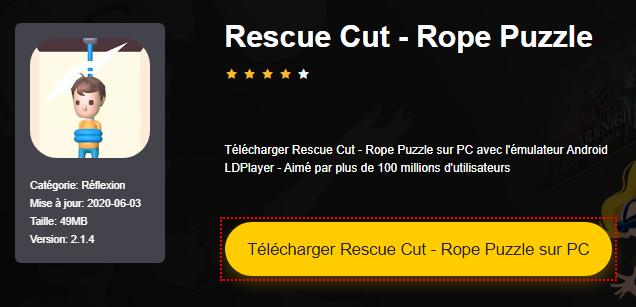 Installer Rescue Cut - Rope Puzzle sur PC