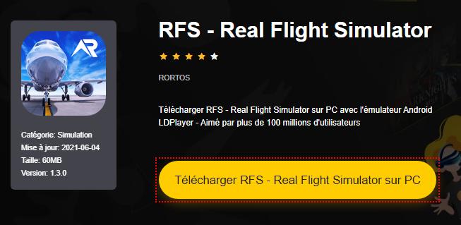 Installer RFS - Real Flight Simulator sur PC