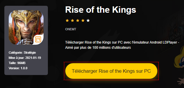 Installer Rise of the Kings sur PC