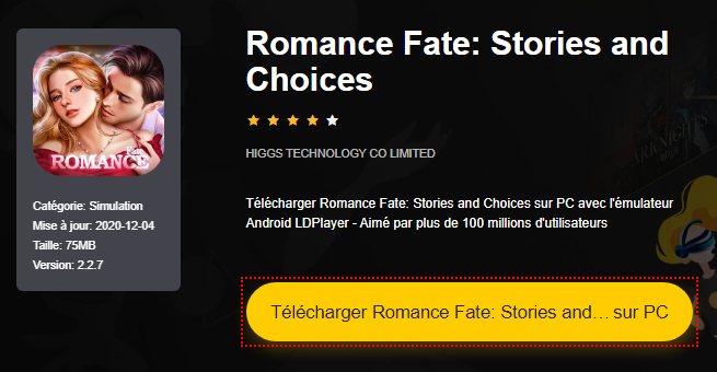 Installer Romance Fate: Stories and Choices sur PC