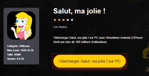 Installer Salut, ma jolie ! sur PC