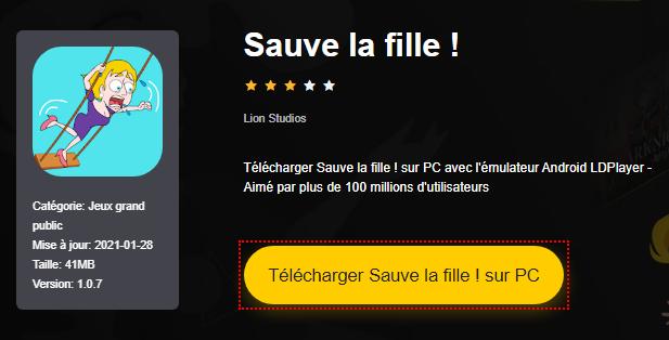 Installer Sauve la fille ! sur PC
