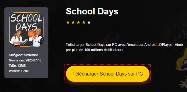 Installer School Days sur PC