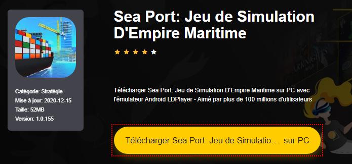 Installer Sea Port: Jeu de Simulation D'Empire Maritime sur PC