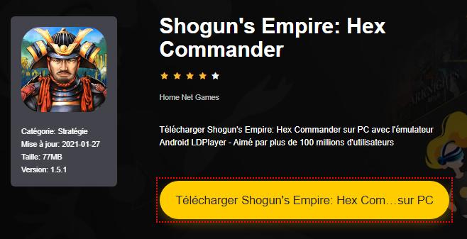 Installer Shogun's Empire: Hex Commander sur PC