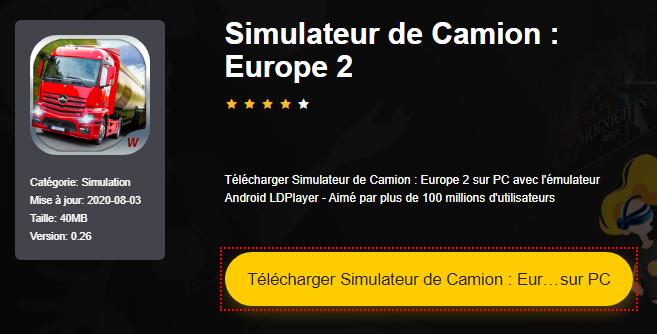 Installer Simulateur de Camion : Europe 2 sur PC