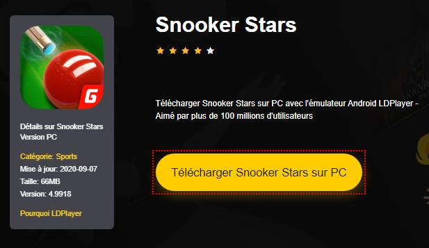 Installer Snooker Stars sur PC