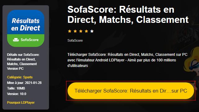 Installer SofaScore: Résultats en Direct, Matchs, Classement sur PC